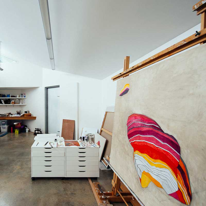 Caspar Fairhall's studio. Photo courtesy Songy Knox