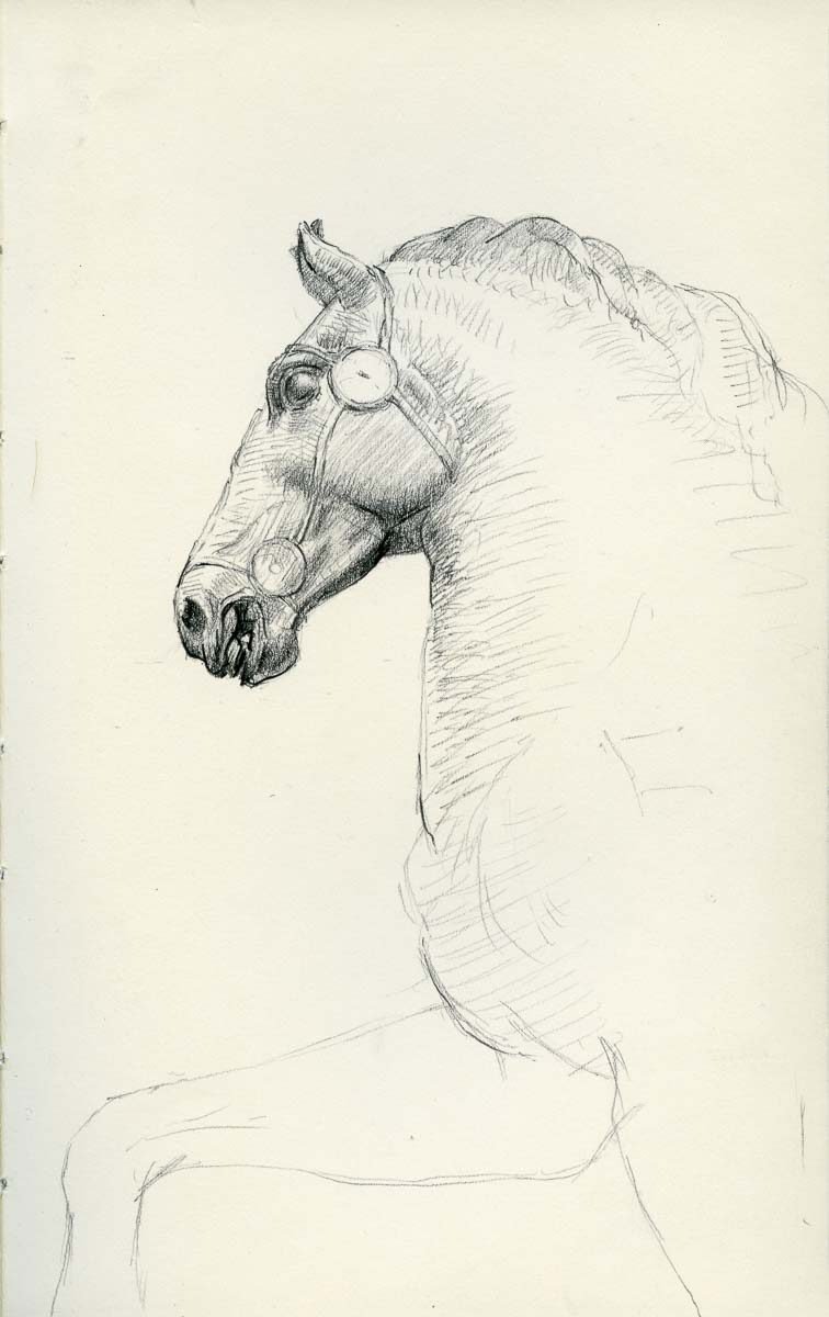 Horse head from the equestrian portrait of Marcus Aurelius